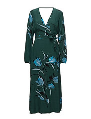 Sille long dress AO18 - FLOWER GREEN