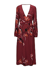 Sille long dress AO18 - FLOWER RED