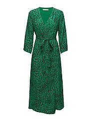 Loui dress AO18 - GREEN LEOPARD