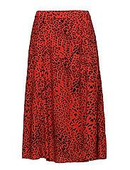 Loui skirt AO18 - RED LEOPARD