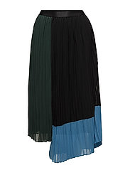 Plissa skirt AO18 - BOTANICAL GARDEN COLOR BLOCK