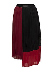 Plissa skirt AO18 - BIKING RED COLOR BLOCK