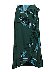 Sille long skirt AO18 - FLOWER GREEN