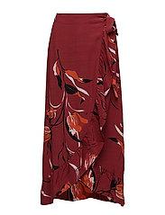 Sille long skirt AO18 - FLOWER RED