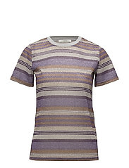 Shine tee MA18 - PURPLE/GOLD