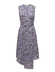 Leopa wrap dress MA18 - PURPLE LEOPARD