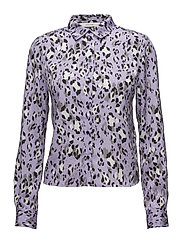 Leopa shirt MA18 - PURPLE LEOPARD