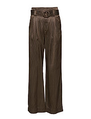 Gestuz Strika pants MA18 - BROWN STRIBE