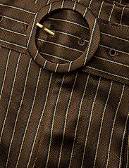 Gestuz - Strika pants MA18 - hosen mit weitem bein - brown stribe - 3