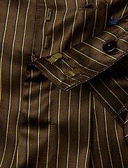 Gestuz - Strika pants MA18 - hosen mit weitem bein - brown stribe - 4