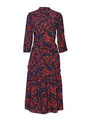 Raida long dress MA18 - RED FLOWER