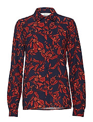 Raida shirt MA18 - RED FLOWER