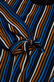 Gestuz - Riba dress MA18 - midi dresses - blue stribe - 2