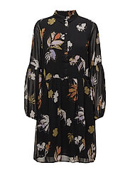 Amali dress MA18 - BLACK FLOWER PRINT