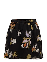 Amali skirt MA18 - BLACK FLOWER PRINT