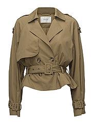 Mira short trenchcoat MA18 - ANTIQUE BRONZE