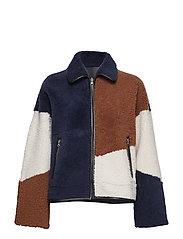 Layla jacket MA18 - CARAMEL CAFé/PRISTINE/BLUE