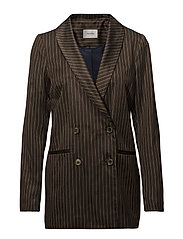 Gestuz Strika blazer MA18 - BROWN STRIBE