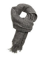 Cross checked scarf MA18 - GREY CHECK