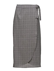 Danielle skirt ZE1 18 - BLACK/WHITE CHECK