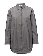 Wray check shirt ZE1 18 - BLACK/WHITE CHECK