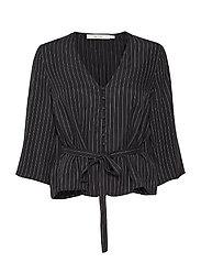 Jenna blouse YE18 - BLACK W. WHITE STRIPE