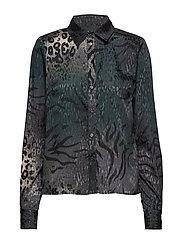 Cristal shirt YE18 - DEEP PINE ANIMAL