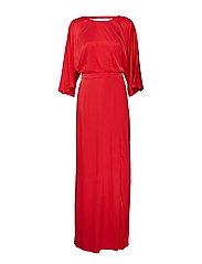 Rosie dress YE18 - DEEP BAROLO
