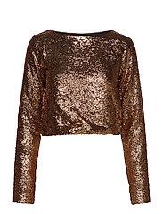 Tito cropped blouse YE18 - COPPER/BLACK