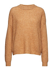 Debbie crop pullover SO19 - TAN MELANGE
