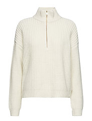 Amaryl zip pullover SO19 - CLOUD DANCER