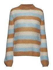 Holly stripe pullover SO19 - TAN MULTI STRIPE