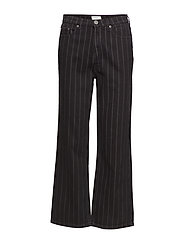 Emma HW jeans SO19 - BLACK PINSTRIPE