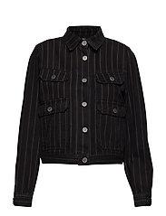 Emma jacket SO19 - BLACK PINSTRIPE