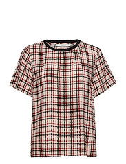 Genova ss top SO19 - RED/PINK/WHITE CHECK