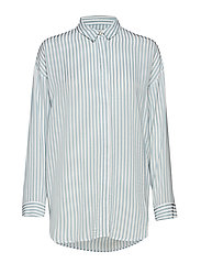 Shay shirt SO19 - WHITE W. BLUE STRIPES