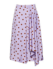 Elsie skirt ZE2 18 - PURPLE/CARAMEL DOT