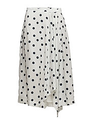 Elsie skirt ZE2 18 - WHITE NAVY DOT
