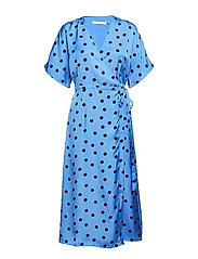 Elsie wrap dress ZE2 18 - BLUE/NAVY DOT
