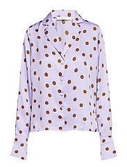 Elsie shirt ZE2 18 - PURPLE/CARAMEL DOT