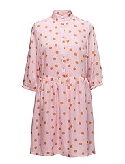 Elsie dress ZE2 18 - PINK ORANGE DOT