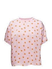 Elsie ss top ZE2 18 - PINK ORANGE DOT
