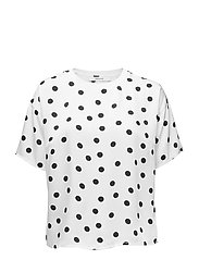 Elsie ss top ZE2 18 - WHITE NAVY DOT