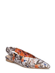 Flow slingback ZE2 18 - GREY FLOWER PRINT