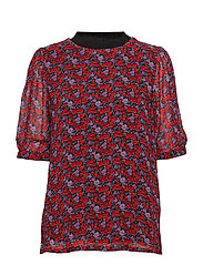 Rosanna ss top MS19 - SMALL RED ROSE