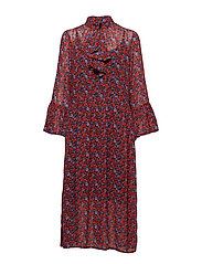 Rosanna long dress MS19 - SMALL RED ROSE