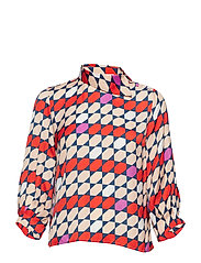 Mesula blouse MS19 - RED/PURPLE TILE