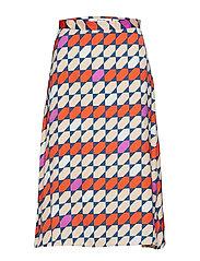 Mesula skirt MS19 - RED/PURPLE TILE