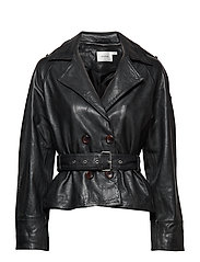 Volitta jacket MS19 Ethical leather - BLACK