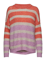 Debbie multi pullover MS19 - FRESH SALMON/STRING